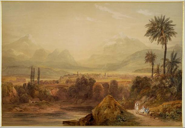View of Thebes (1819) by Hugh William Williams.