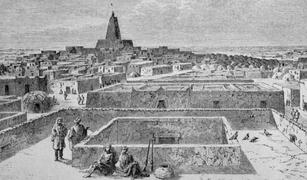 View of Timbuktu, Heinrich Barth (1858).