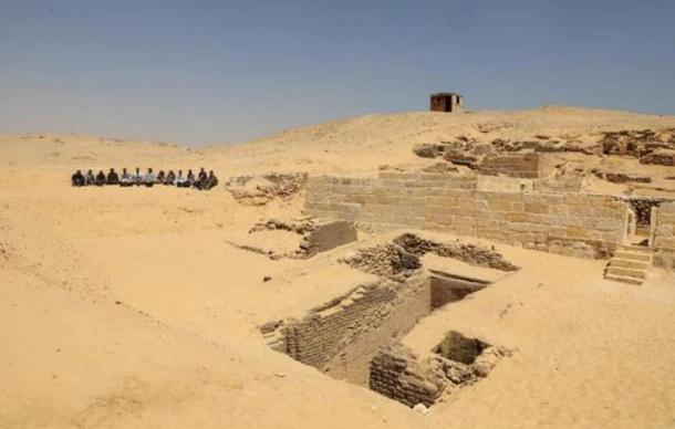 View of the excavation site