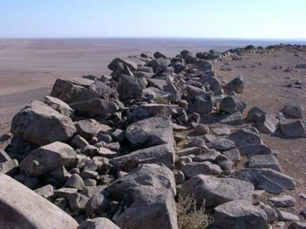 View of the thickness of the Qal'at al-Rahiyya northern wall. (Image: CNRS)