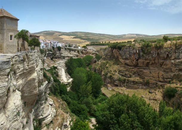 View over the gorge of Río Alhama.