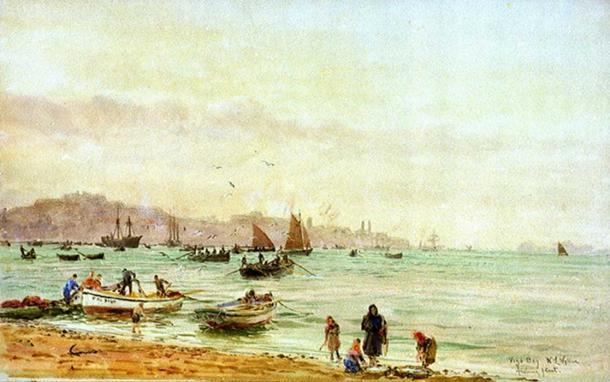 'Vigo Bay fishing fleet' by William Lionel Wyllie.
