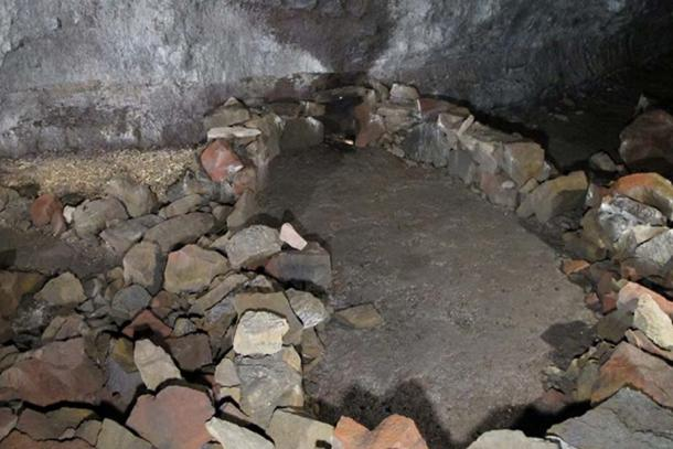 Viking Age structure, deep inside the cave