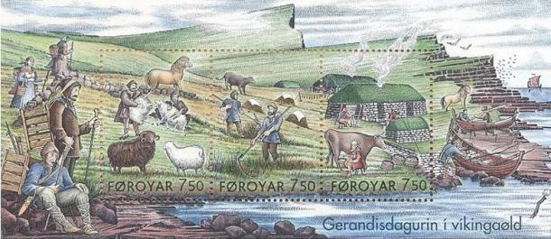 Stamps Showing Everyday Life in the Viking Age