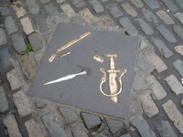 Viking artifacts, Christchurch Place, Dublin, Ireland. (michaelz1/CC BY NC SA 2.0)