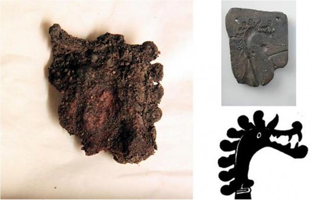 First Viking Brooch Piece Depicting Dragon Head