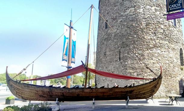 Viking longship at Reginald's Tower, Waterford, Ireland. (CC BY-SA 4.0)