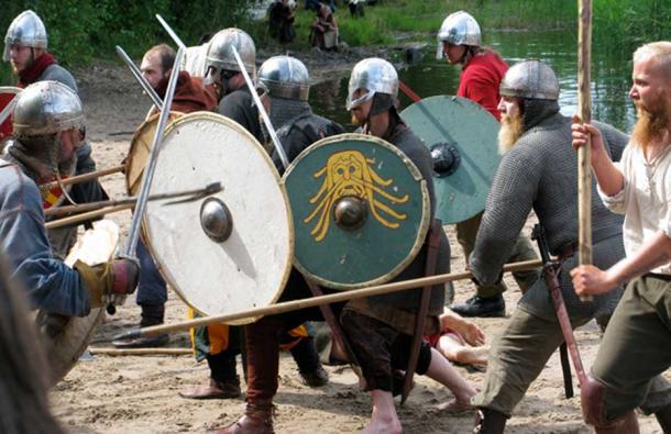 Viking reenactors