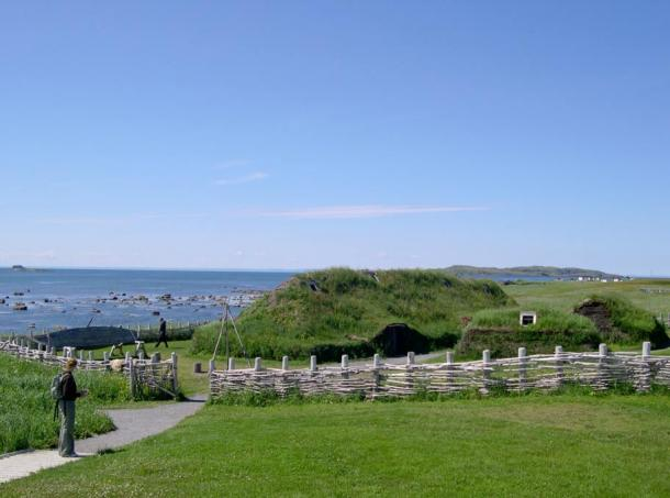Modern recreation of the Viking site at L'Anse aux Meadows.
