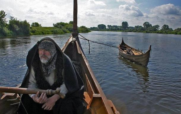 Did a Native American travel to Iceland and leave behind a telltale genetic marker? A man helms replica Viking vessels.
