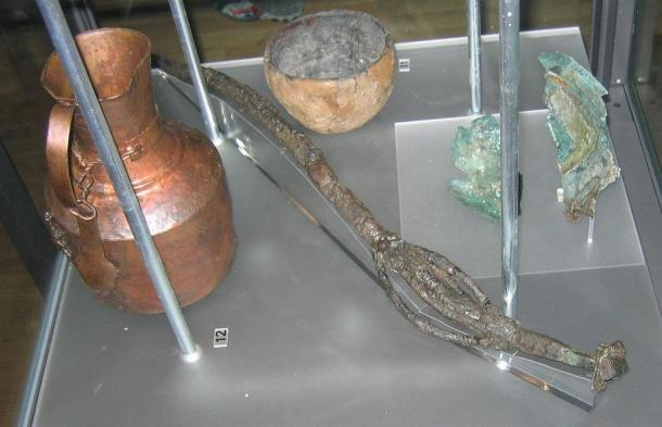 These goods from a Swedish grave included Viking vessels.
