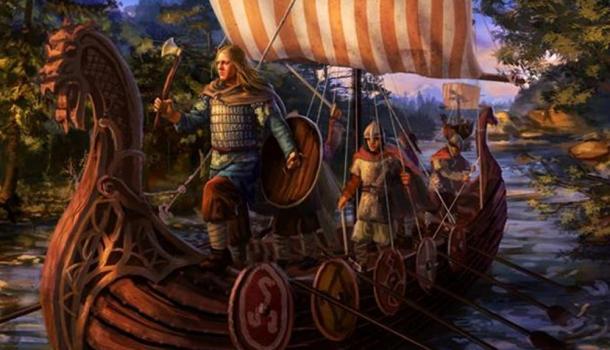 Vikings on a ship