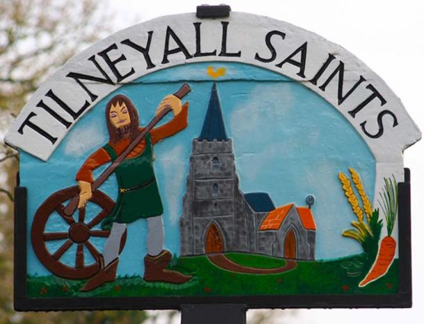 Village sign for Tilneyall Saints