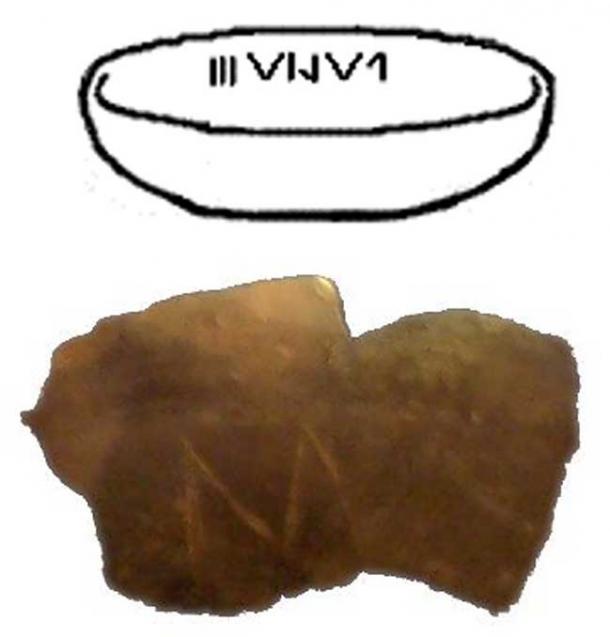 A modern drawing of a Vinča vessel