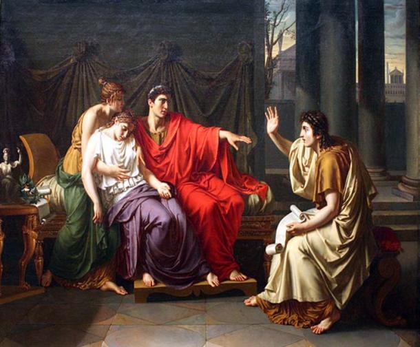 Virgil reading the Aeneid to Augustus, Octavia, and Livia.