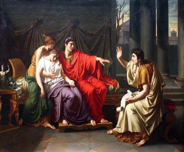 Virgil reading the Aeneid to Augustus, Octavia, and Livia.