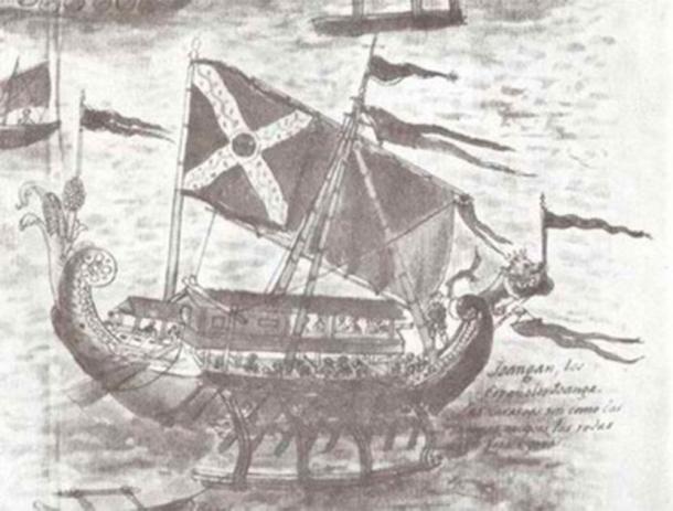 Visayan karakoa from Historia de las islas e indios de Bisayas (1668) by Francisco Ignacio Alcina. (Public Domain)