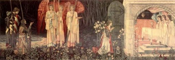 Vision of the Holy Grail by William Morris (1890) Museum and Art Gallery of Birmingham (Public Domain)