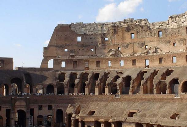 Vomitoria in the Colosseum, Rome. C Davenport, Author provided.