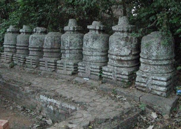 General view of the Votive stupa from Ratnagiri, Odisha