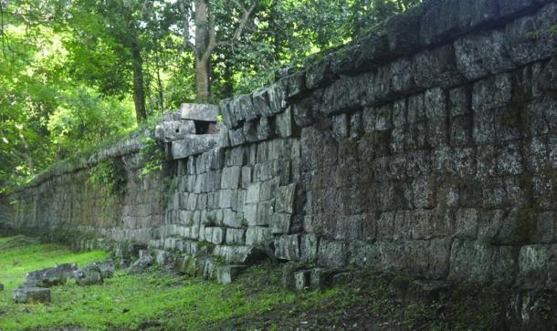 Wall around Angkor Wat complex