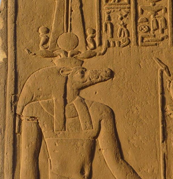 Wall relief of Sobek, Kom Ombo Temple, Egypt