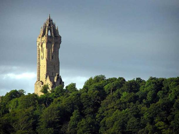 The Wallace Monument near Stirling, Scotland. (