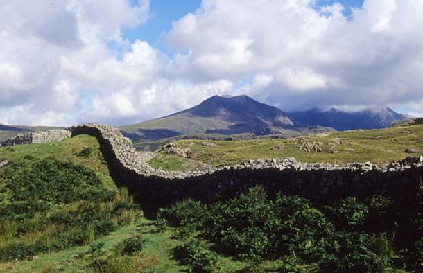 Walls of Hardknott Roman Fort