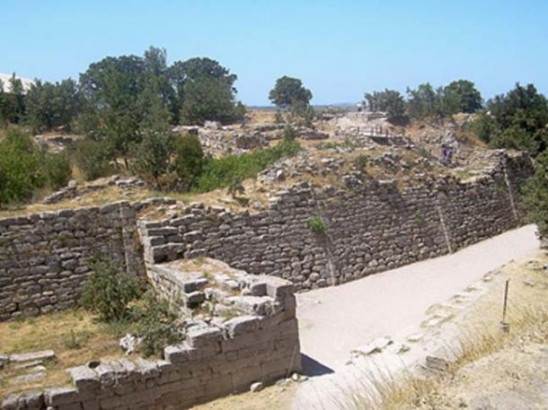 Walls of Troy, Hisarlik, Turkey.