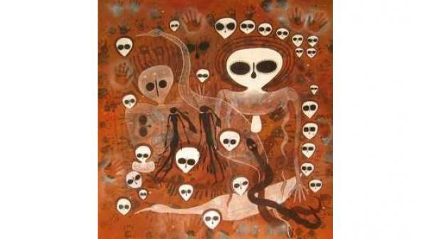 El misterioso Arte aborigen de la roca de la Wandjinas
