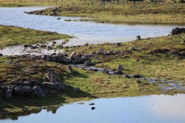 Water begins to flow through the eel traps. (Gunditj Mirring)