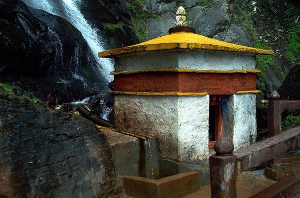 Waterfall, Paro Taktsang monastery, Bhutan
