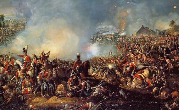 The Battle of Waterloo, 1815. Public domain
