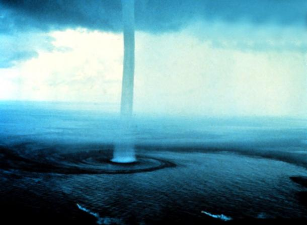 Waterspouts have been cited as one of the possible explanations for raining objects