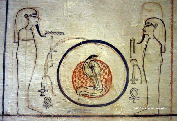 We can understand the progression of decoration in an ancient Egyptian tomb by analyzing the images present in KV57, the tomb of King Horemheb, the last pharaoh of the 18th Dynasty. Work in this sepulcher stopped abruptly when he died. Valley of the Kings.