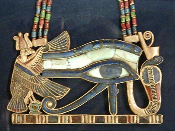 A Wedjat/Udjat 'Eye of Horus' pendant. (Jon Bodsworth)