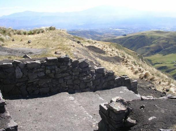 The west gate of the Inca fortress of Quitoloma. Archaeologists are working on excavating and conserving it.  Credit: Chad Gifford / Pambamarca Archaeological Project