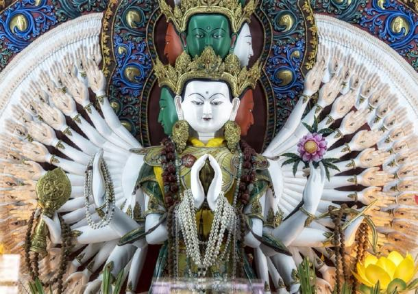 White Tara statue in Kathmandu Nepal. Source: Jerry / Adobe Stock.