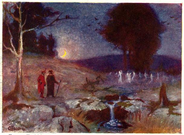 'Will-o'-the-Wisp Dance' (1901) by Hermann Hendrich.