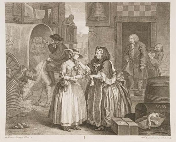 William Hogarth's - A Harlot's Progress (Public Domain)