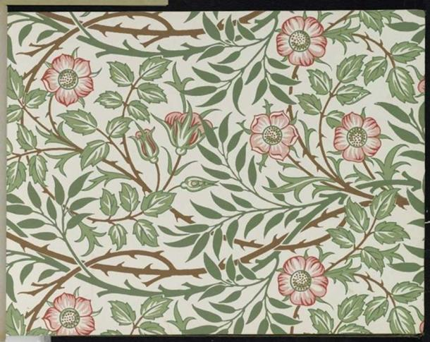 William Morris & Co., Wallpaper Sample. (Public Domain)