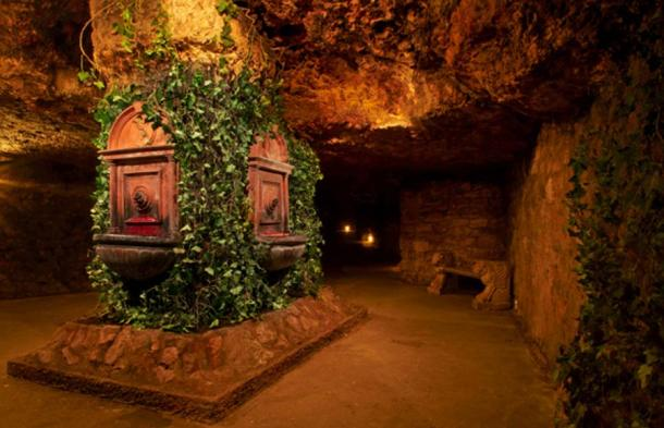 The Wine Fountains of Mátyás found deep within the Buda Labyrinth.