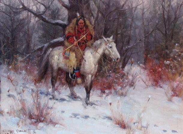 'Winter Hunt' by Gary Niblett.
