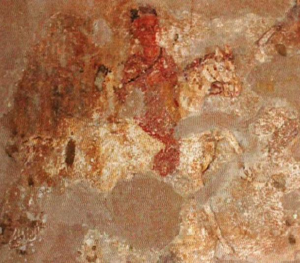 Wise man on horseback, Dongola Hall (Public Domain)
