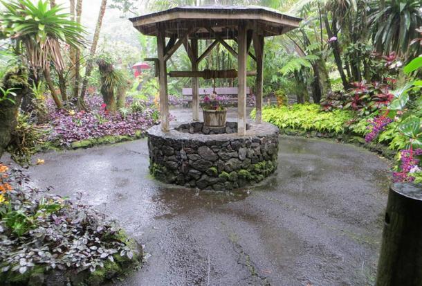 Wishing well, Hawaii Tropical Botanical Garden, Big Island.