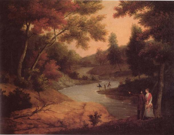 View on the Wissahickon by James Peale (1830).
