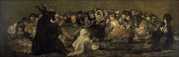 Witches' Sabbath The Great He-Goat by Francisco Goya  (1746–1828) (Public Domain)
