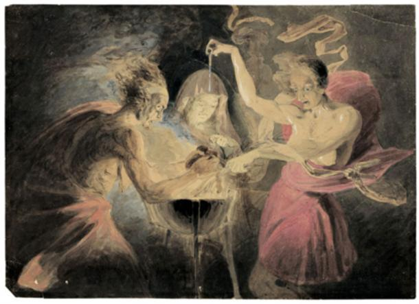 Witches from MacBeth by John Downman