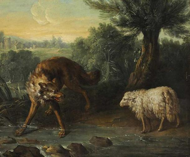 'The Wolf and the Lamb' by Jean-Baptiste Oudry.