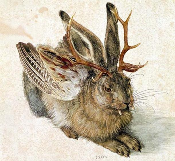 Wolpertinger said to live in Germany, similar to the Jackalope. (Hohum / CC BY-SA 3.0)